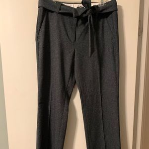 Heathered blue gray Loft women's trousers